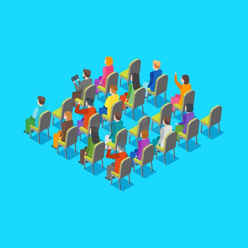 政客企业观众概念3d等轴测图 向量 向量例证
