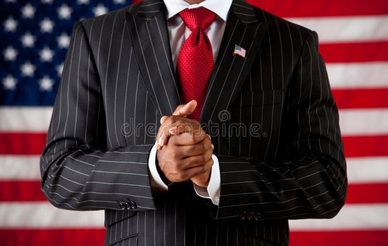 政客:人用被扣紧的手 库存图片