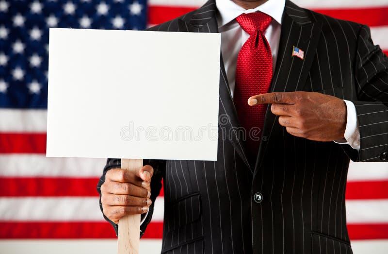 政客:删去标志的指向 库存图片