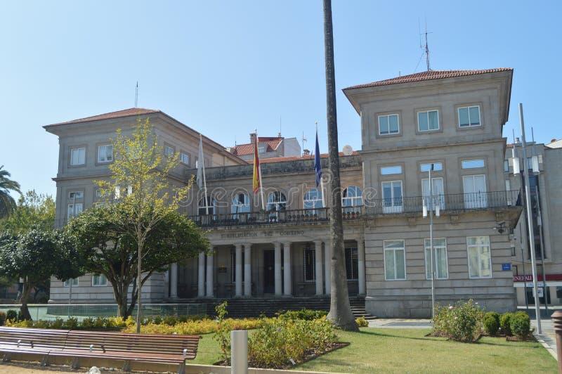 政府代表团的主要门面在阿拉米达街上的在蓬特韦德拉 自然,建筑学,历史,街道摄影 免版税库存图片