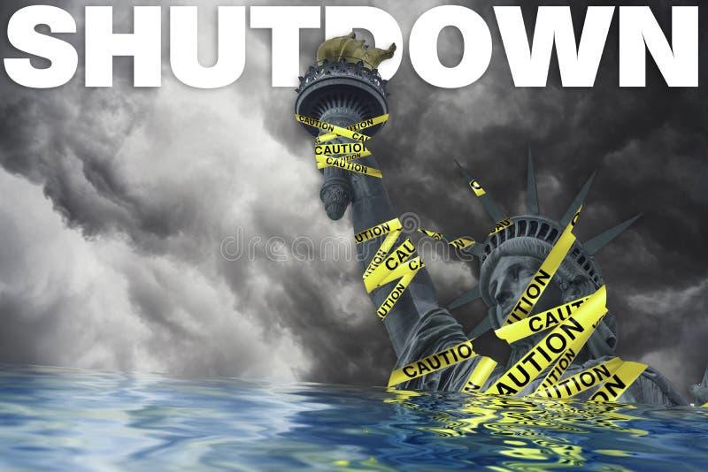 政府停工在美国 库存图片