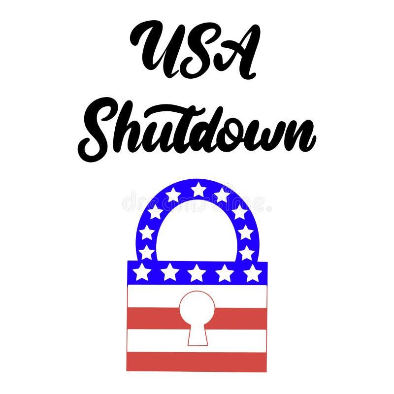 政府停工在美国 皇族释放例证