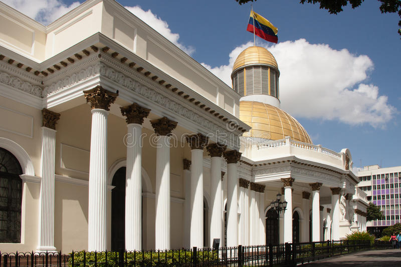 政府大厦在加拉加斯 库存图片