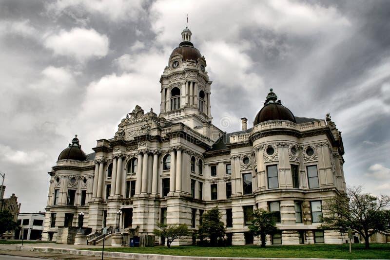 政府大厦在埃文斯维尔 免版税库存图片