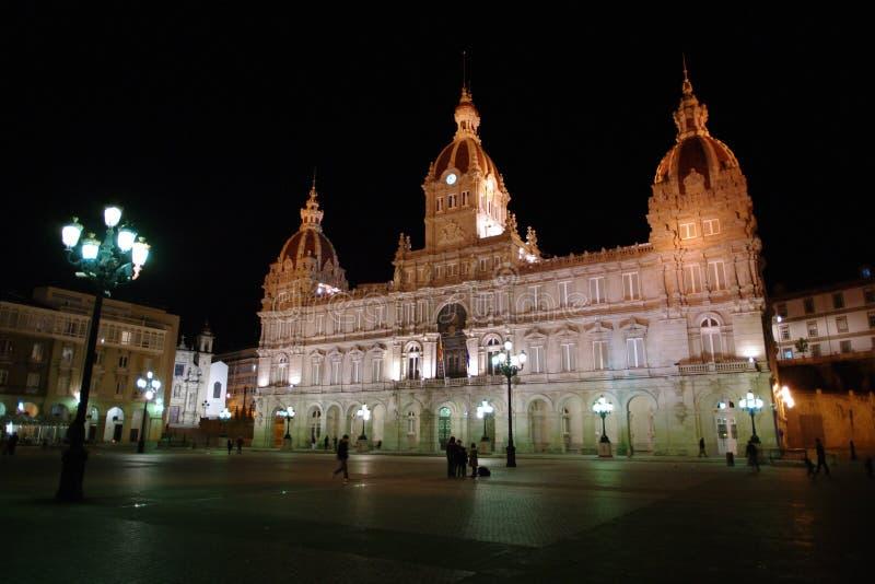 政府大厦或市政宫殿在加利西亚,西班牙 库存照片