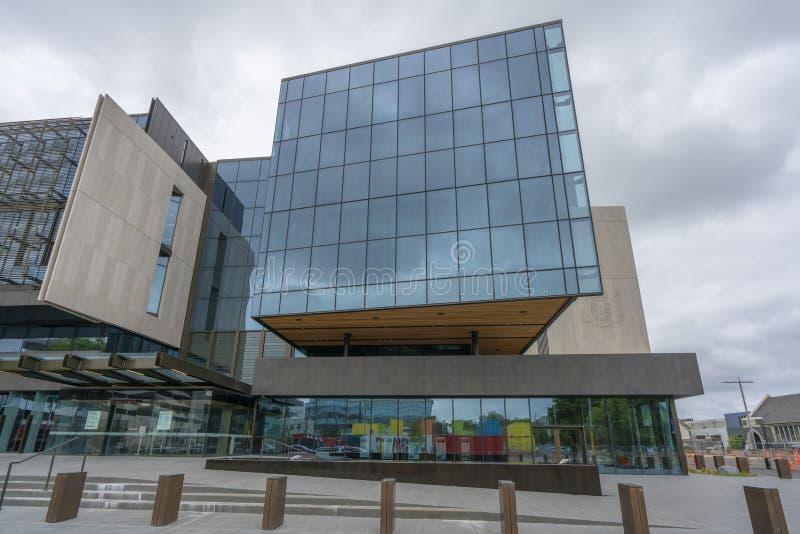 政府大厦现代大胆的新的设计在克赖斯特切奇 库存照片