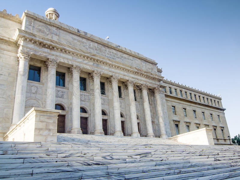 政府大厦,波多黎各 免版税库存照片