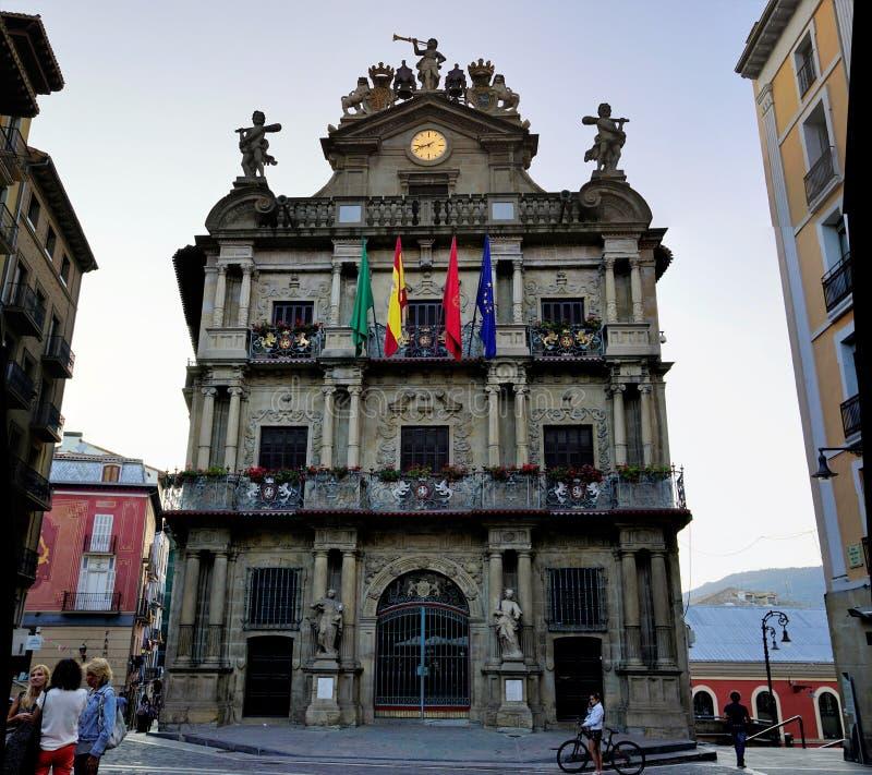 政府大厦,潘普洛纳,西班牙 库存照片