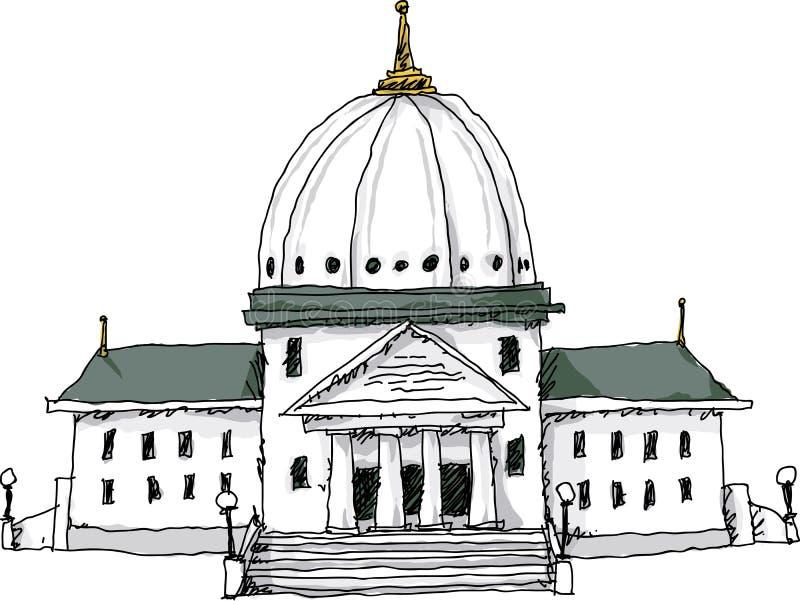政府大厦 皇族释放例证