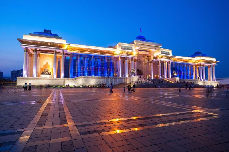 政府宫殿在Ulaanbaatar 库存照片