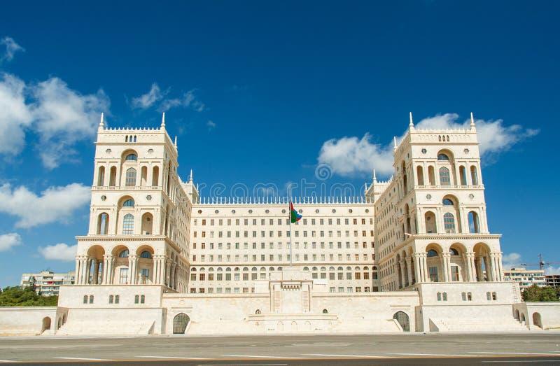 政府房子在巴库,阿塞拜疆 库存图片