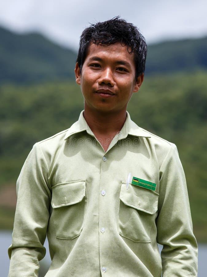 政府政府官员在钦邦,缅甸 图库摄影