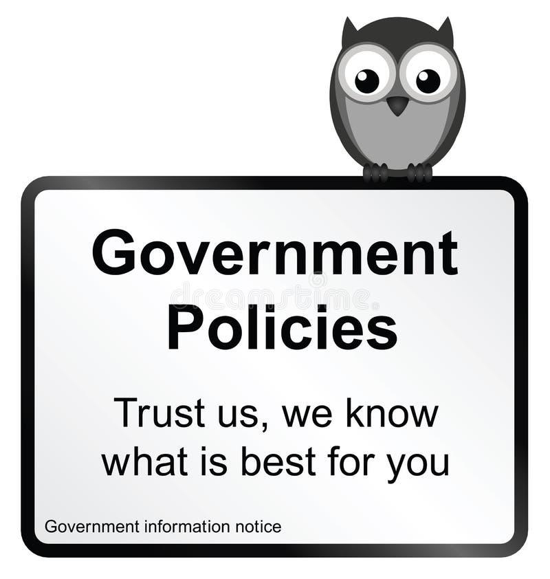 政府政策 向量例证