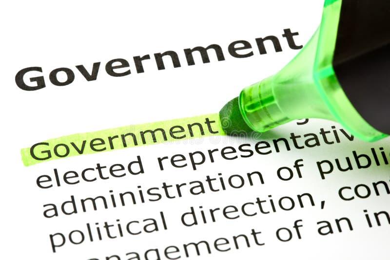 政府绿色标志 免版税图库摄影