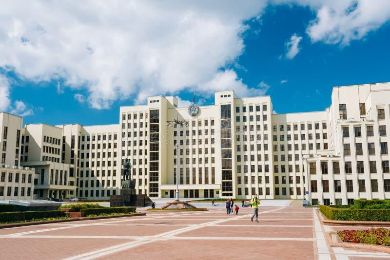政府议会大厦-白俄罗斯的国民议会 免版税图库摄影
