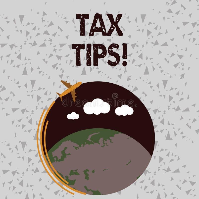 写文本税技巧的词 政府飞机强制的贡献的企业概念能陈述收支征收的 向量例证