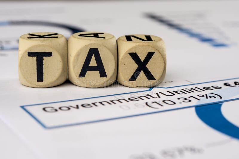 政府taxe分析 库存照片