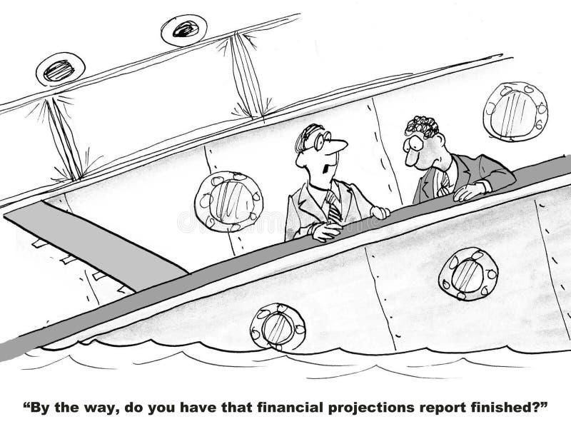 财政投射 库存例证