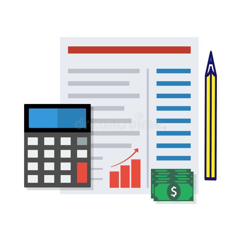 财政报告概念 也corel凹道例证向量 库存例证