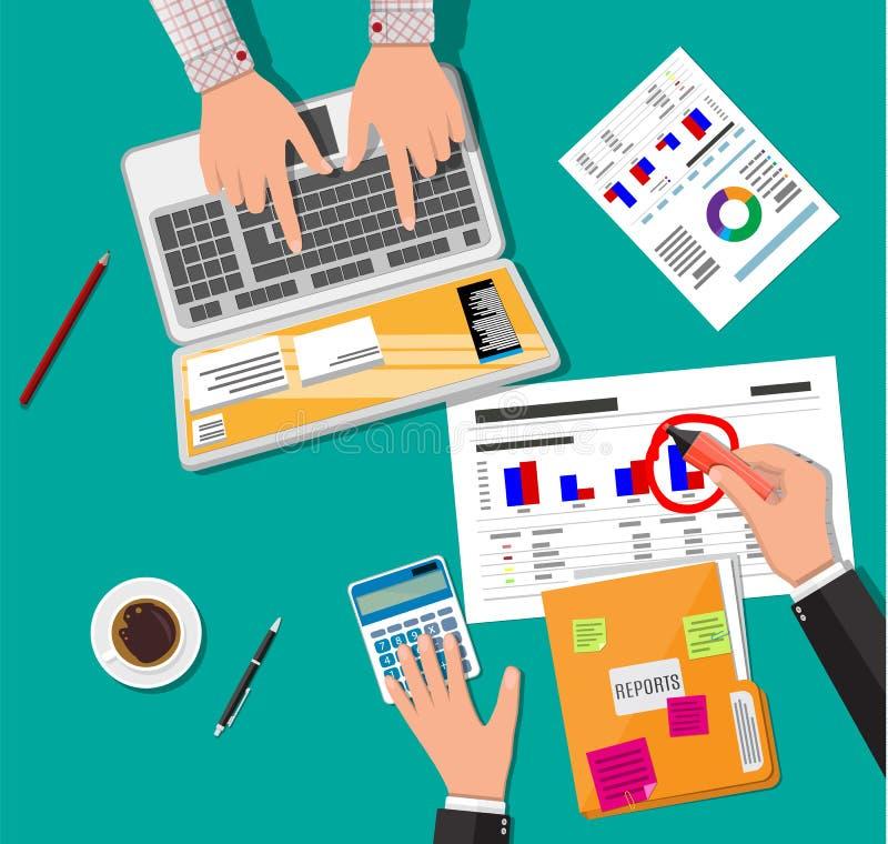 财政报告概念 另外的背景企业格式 向量例证