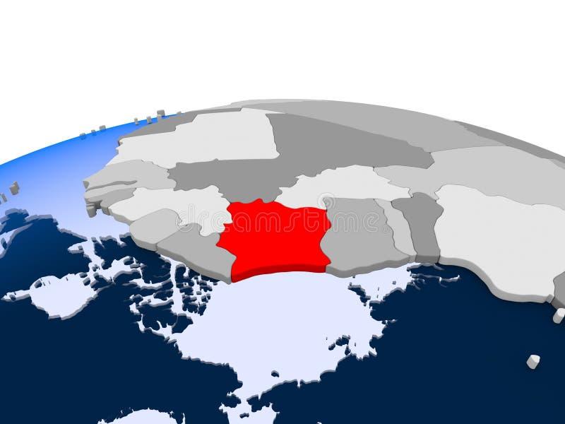 政治地球的利比里亚 皇族释放例证