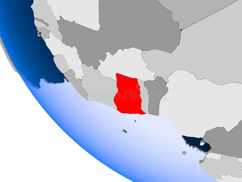政治地球的加纳 库存例证