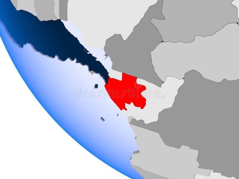 政治地球的加蓬 皇族释放例证