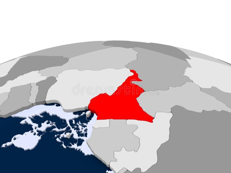 政治地球的喀麦隆 库存例证