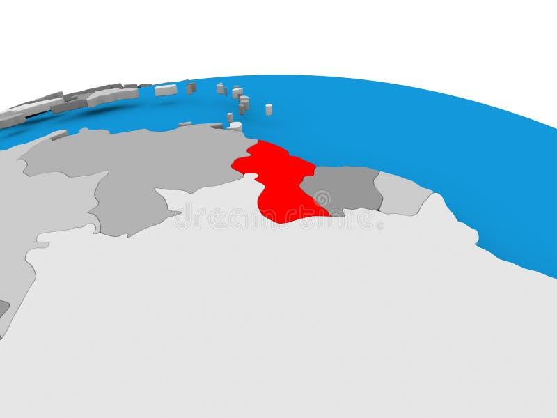 政治地球的圭亚那 皇族释放例证