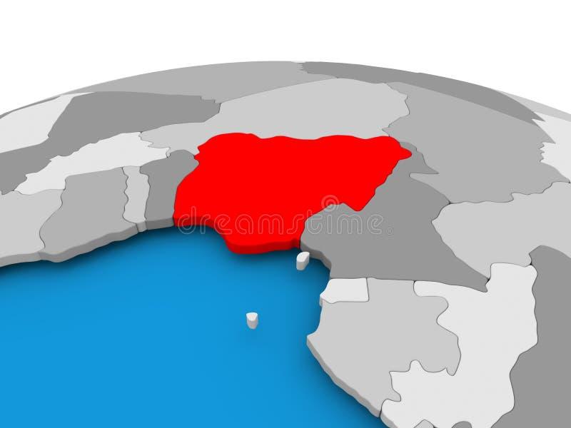 政治地球的尼日利亚 皇族释放例证
