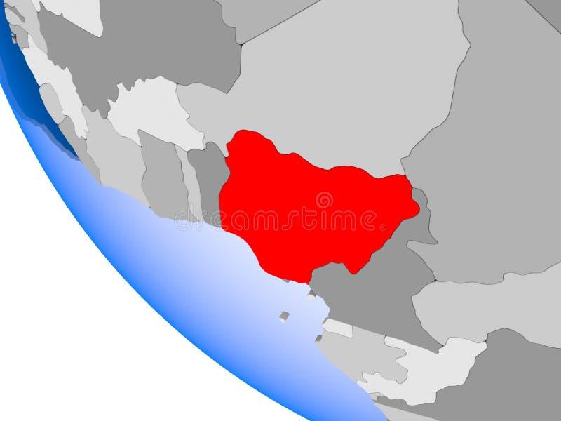 政治地球的尼日利亚 向量例证