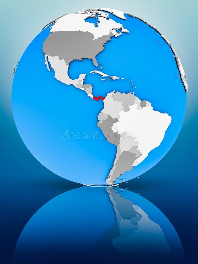 政治地球的巴拿马 免版税库存照片