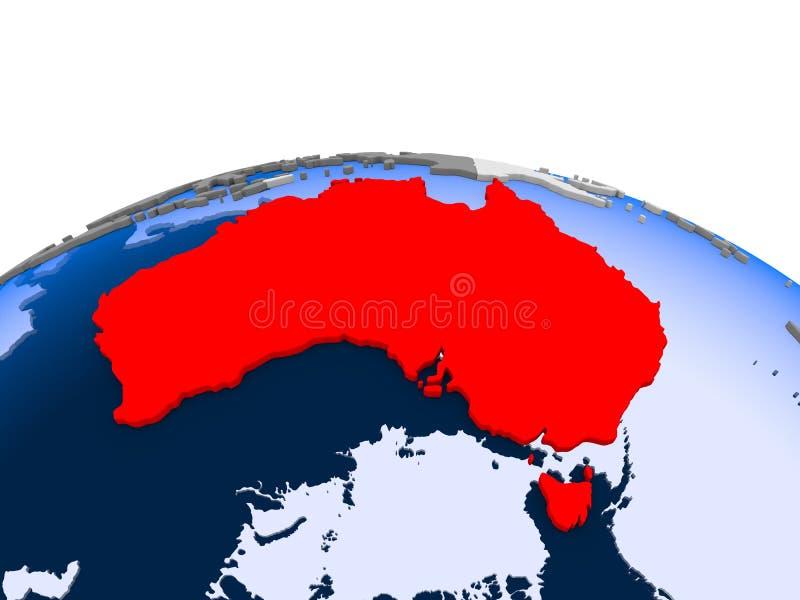 政治地球的新西兰 向量例证