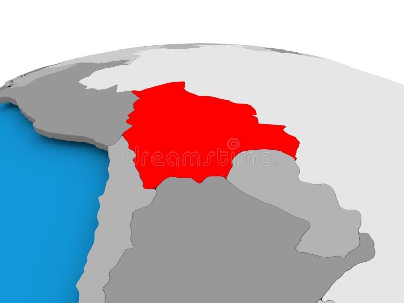 政治地球的玻利维亚 向量例证
