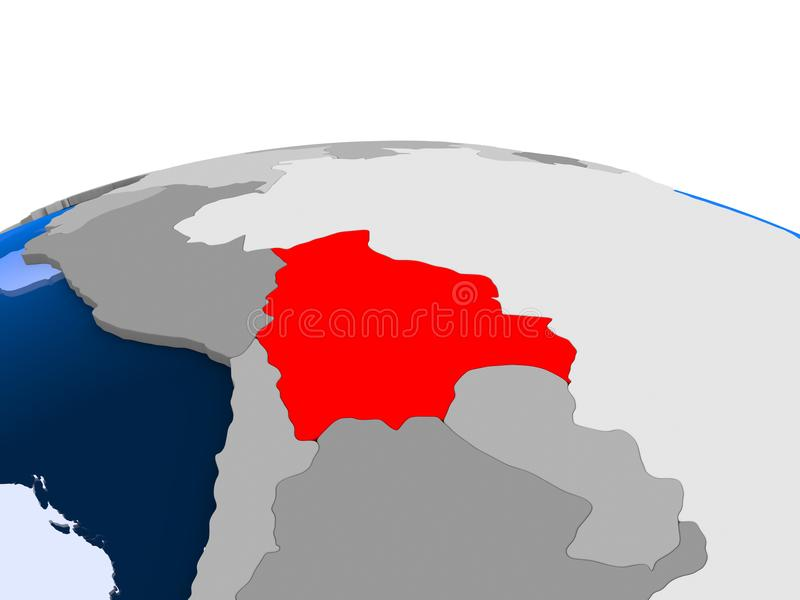 政治地球的玻利维亚 皇族释放例证