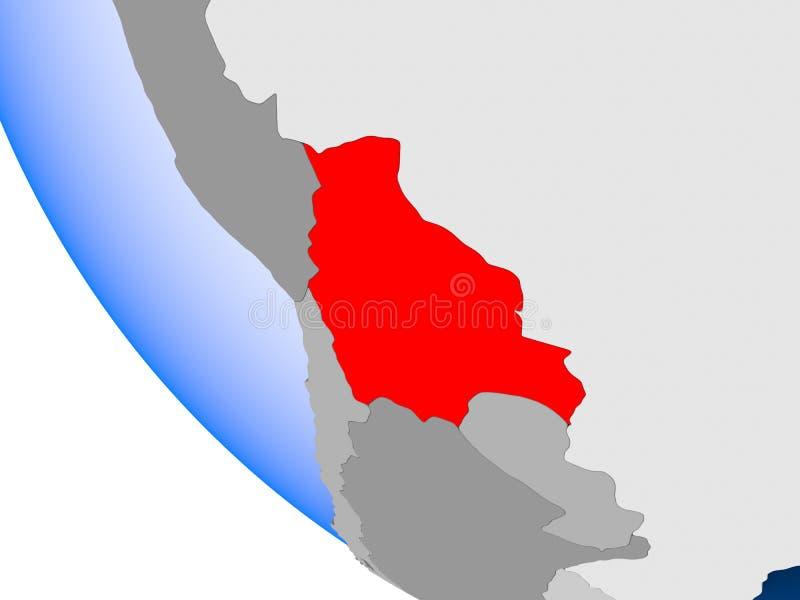 政治地球的玻利维亚 库存例证