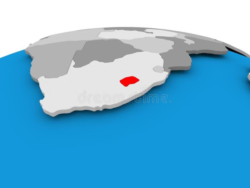 政治地球的莱索托 向量例证