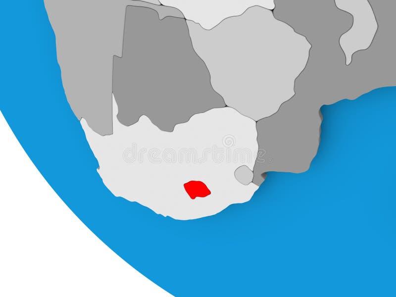 政治地球的莱索托 皇族释放例证