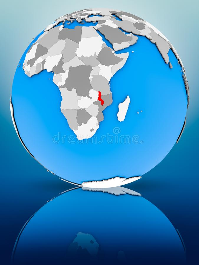 政治地球的马拉维 免版税库存图片