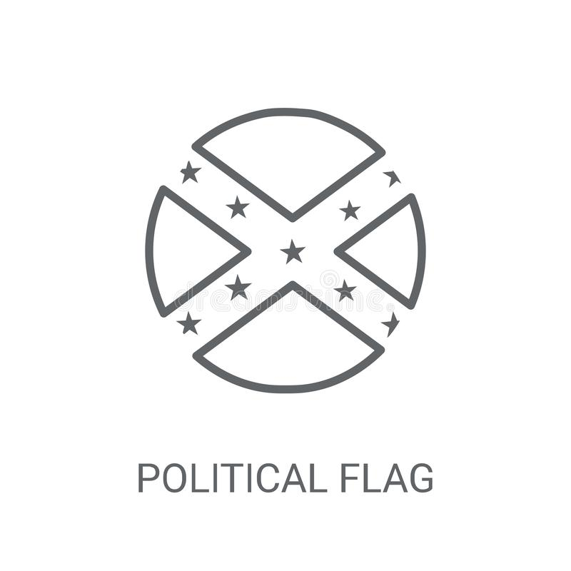 政治旗子象 在白色的时髦政治旗子商标概念 皇族释放例证
