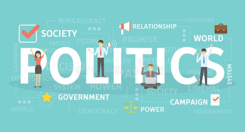 政治概念例证 库存例证