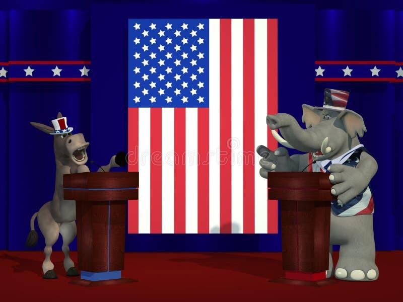 政治辩论 向量例证
