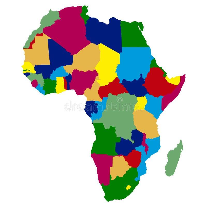 政治非洲的映射 库存例证