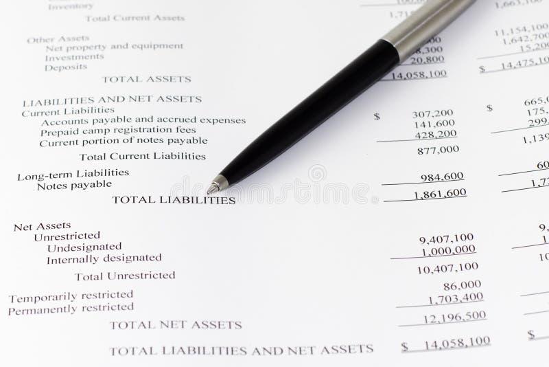财政的事务分析责任 免版税库存照片