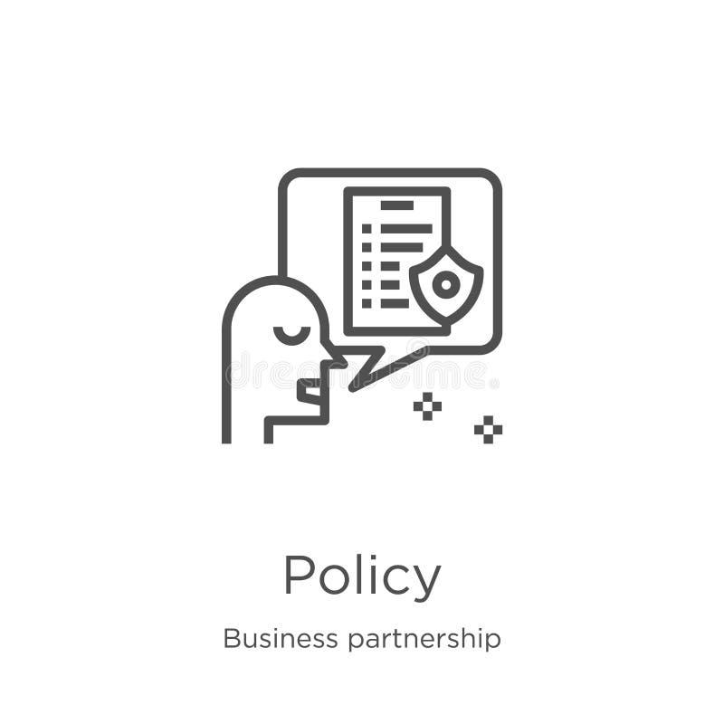 政策从企业合作汇集的象传染媒介 稀薄的线政策概述象传染媒介例证 概述,稀薄的线 库存例证