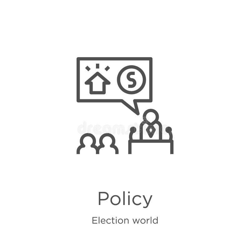 政策从竞选世界汇集的象传染媒介 稀薄的线政策概述象传染媒介例证 概述,稀薄的线政策 库存例证