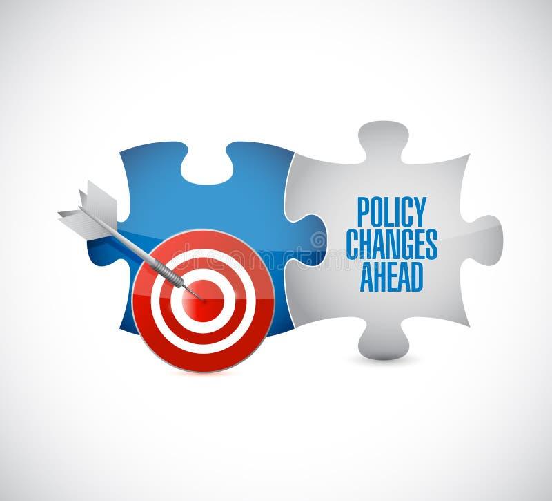 政策变化前面目标难题编结消息 向量例证
