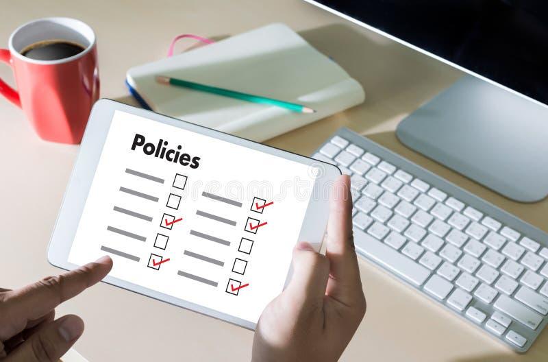 政策隐私权政策设置信息原则战略 图库摄影