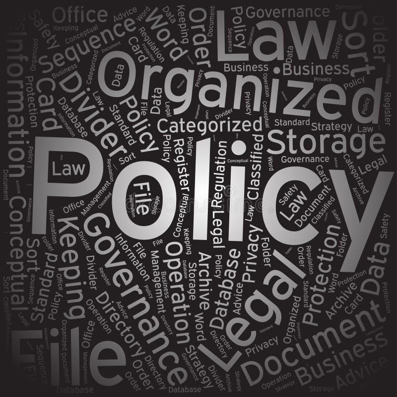 政策,词云彩艺术背景 向量例证