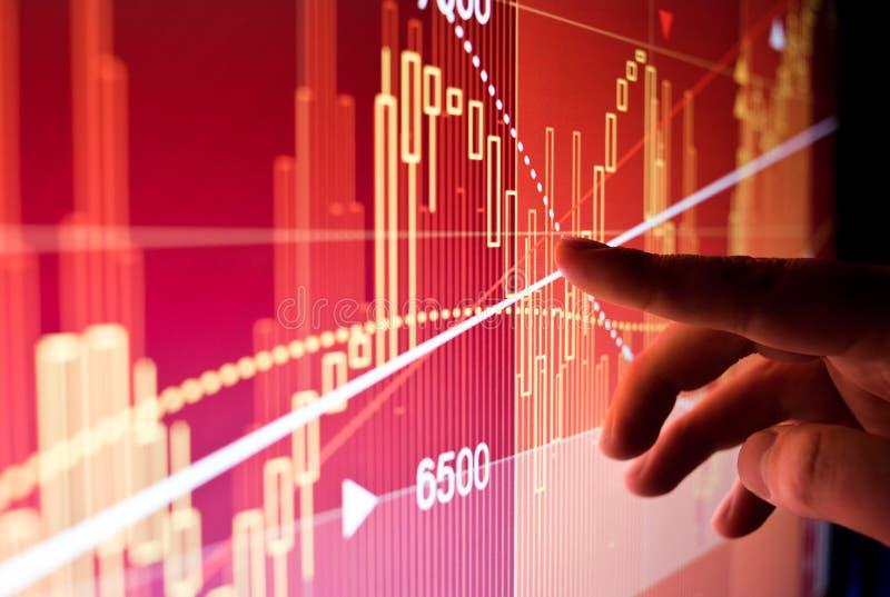 财政股市数据 免版税库存图片